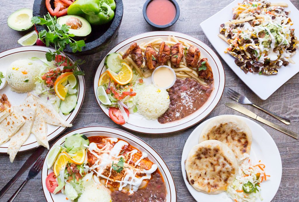 sea-food-enchiladas-quesadillas-mexican-plates