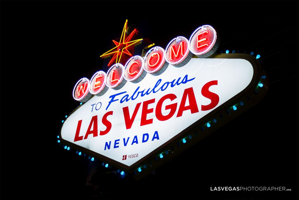 Welcome To Fabulous Las Vegas Nevada Sign At Night