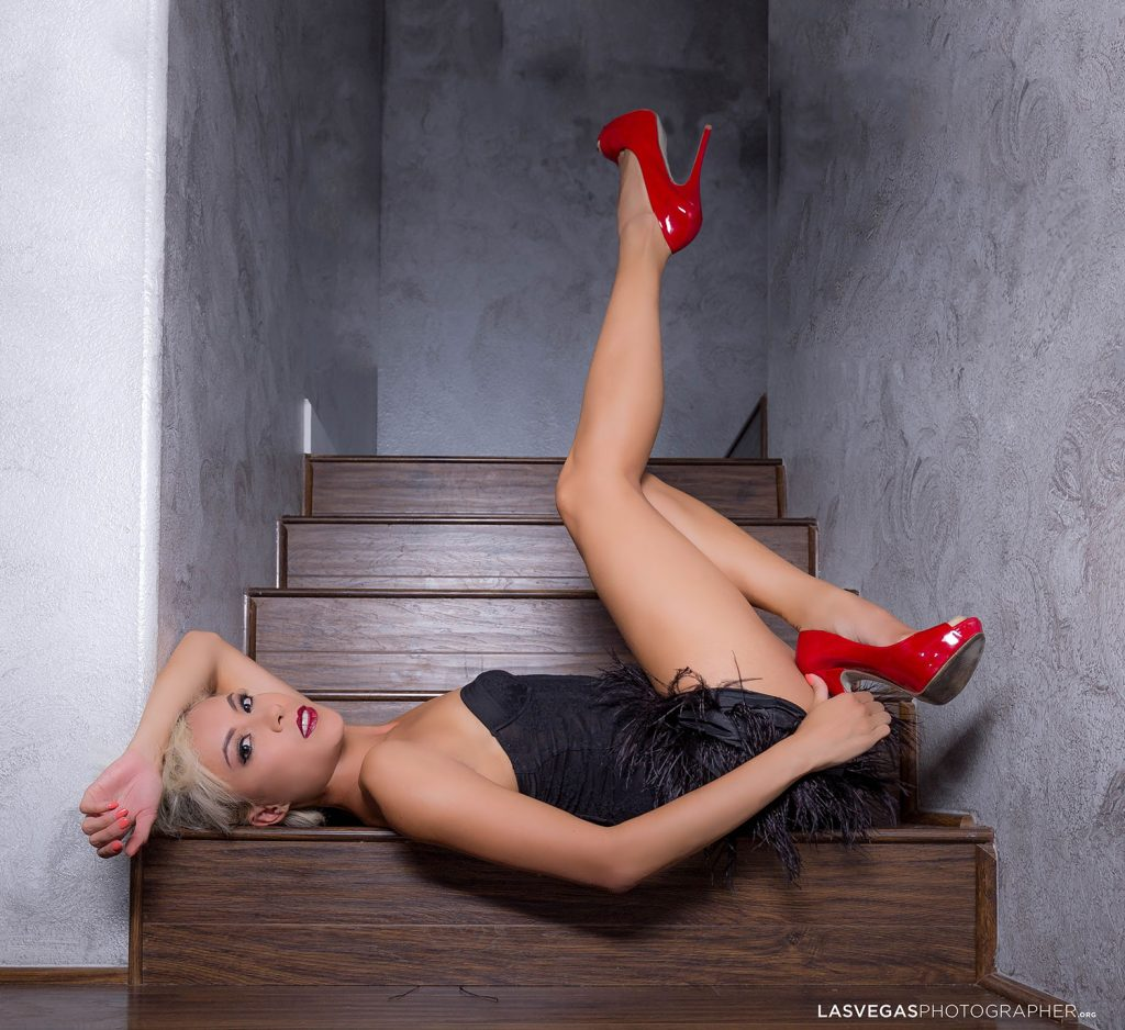 model-in-stairs-photoshoot